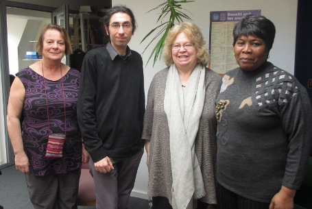 Jean and Danny with Wendy Pettifer solicitor and volunteer Annette