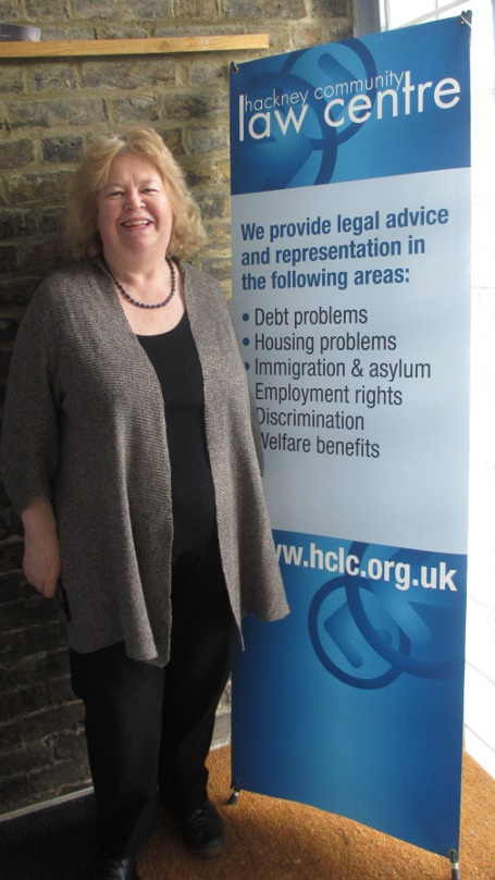 Jean with HCLC banner