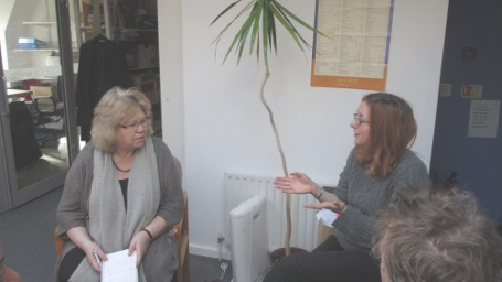 Jean with Helen Hibberd from Hackney Migrant Centre