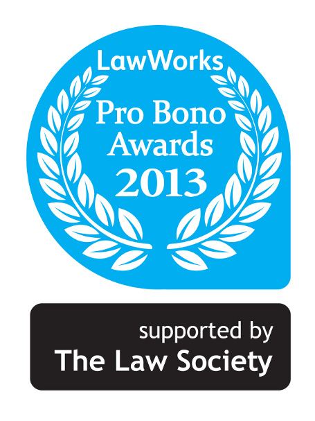 Law Works Pro Bono awards 2013