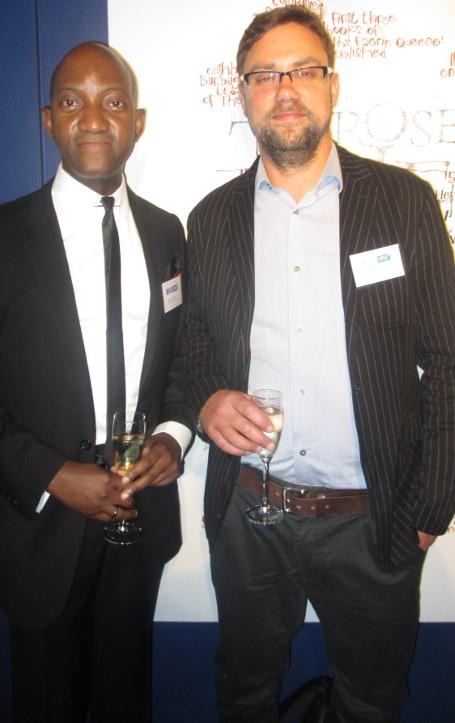 Hilton and patron Jon Robins