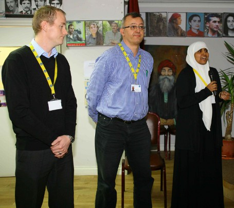 Yasmin introducing Andrew Skipper and Benno Allerman