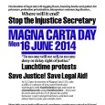 On Monday 16th June 2014, HCLC's Chair, staff, interns, board members and patrons took part in the Justice Alliance Campaign's Magna Carta day protest against the Justice Secretary Chris Grayling's […]
